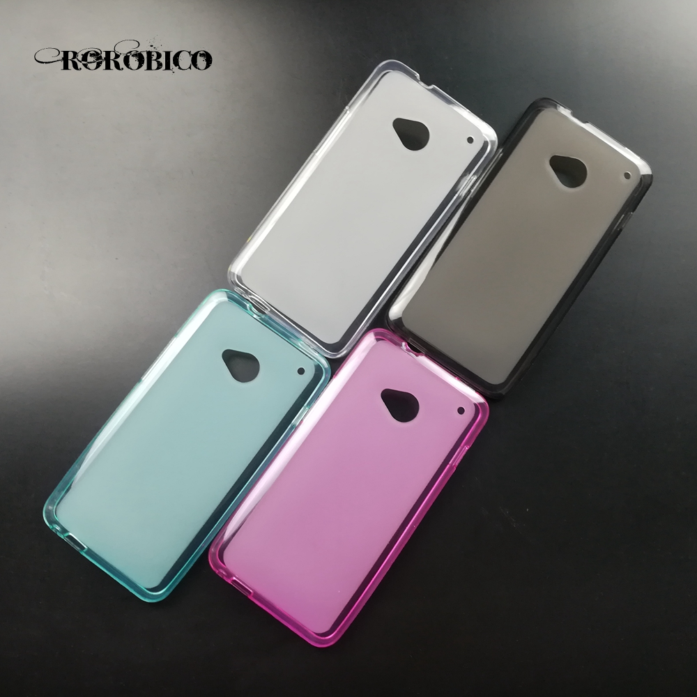 Luxury Soft TPU Silicone pudding Case Back Skin Cover For HTC ONE M7 Dual Sim 802T