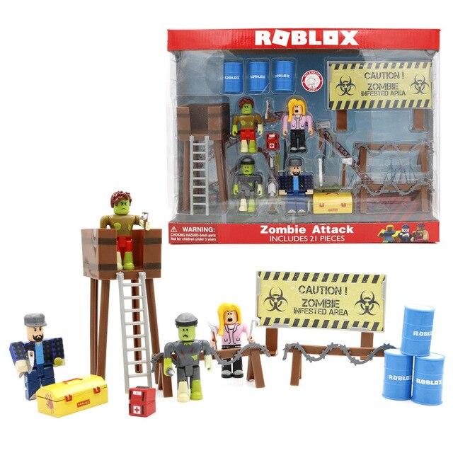 Roblox зомби персонажи фигурка игрушка Roblox кукла профессиональный работник Figma Oyuncak Фигурки игрушки Дети подарки на день рождения