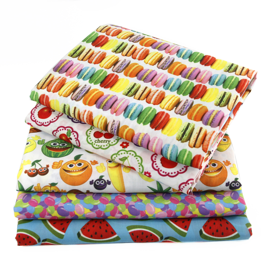 50*145cm  Polyester Cotton Fabric Food Fruit DIY Children's Wear Cloth Make Bedding Quilt Decoration Home,1Yc478(China)