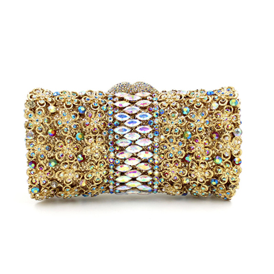 New Lady Crystal Handbag Luxury Evening Party Bag Clutch purse New Style Jewel Case Mini Bag Luxury Evening Bag gold/yellow/red 2017 new luxury crystal evening clutch bag embroidery women clutch handbag lady wedding purse party hand bag ladies gifts coffee