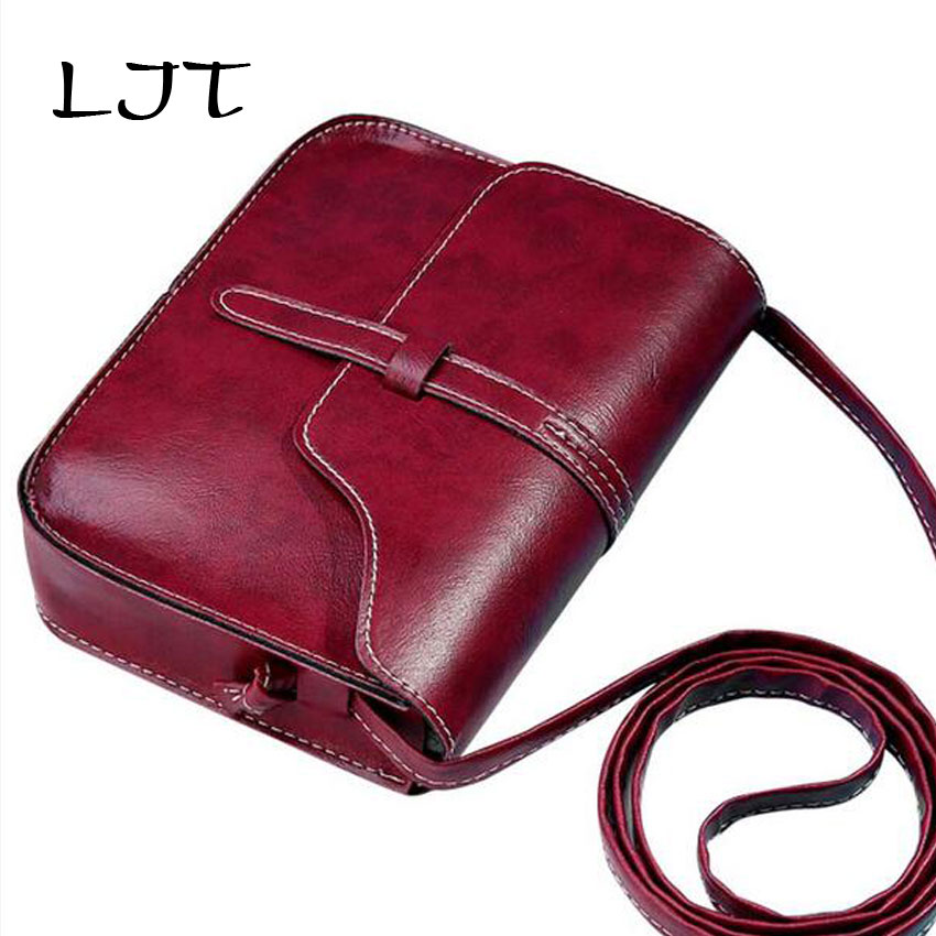 LJT Women Handbag Fashion Shoulder Bags Cross-body Bags PU Leather Mini Clutch Phone Bag Girls Spring Summer Retro Shoulder Bag 2016 fashion spring and summer crocodile pattern japanned leather patent leather handbag one shoulder cross body bag for women