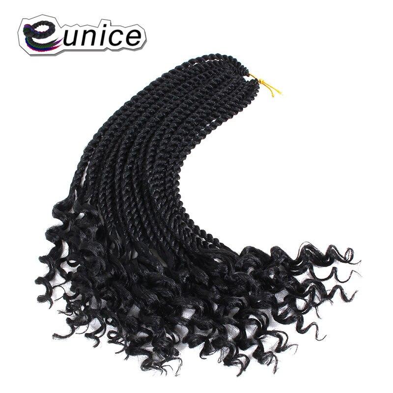 Eunice 30 Vertentes Encaracolado Sintético Torção Senegalês Crochet Pré-laço Do Cabelo Tranças 16