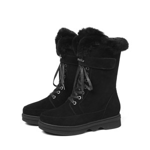 Image 4 - MORAZORA 2020 top quality suede leather ankle boots women zipper +lace up comfortable platform shoes ladies winter snow boots