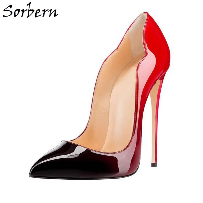 6d7a0dd214047 Sorbern Women Pumps Shoes High Thin Heels Pointed Toe Plus Size ladies Party  Pumps Shoes Slip On 2018 Shoes Pump Woman High Heel