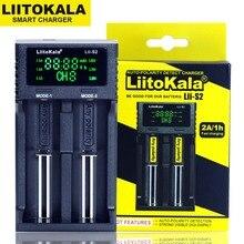 Liitokala Lii-S2 Double slot 18650 Battery Charger 1.2V 3.7V 3.2V AA/AAA 26650 21700 NiMH li-ion battery Smart Charger 2pcs liitokala 3 7v 3400mah 18650 li ion rechargeable battery no pcb lii 202 usb 26650 18650 aaa aa smart charger