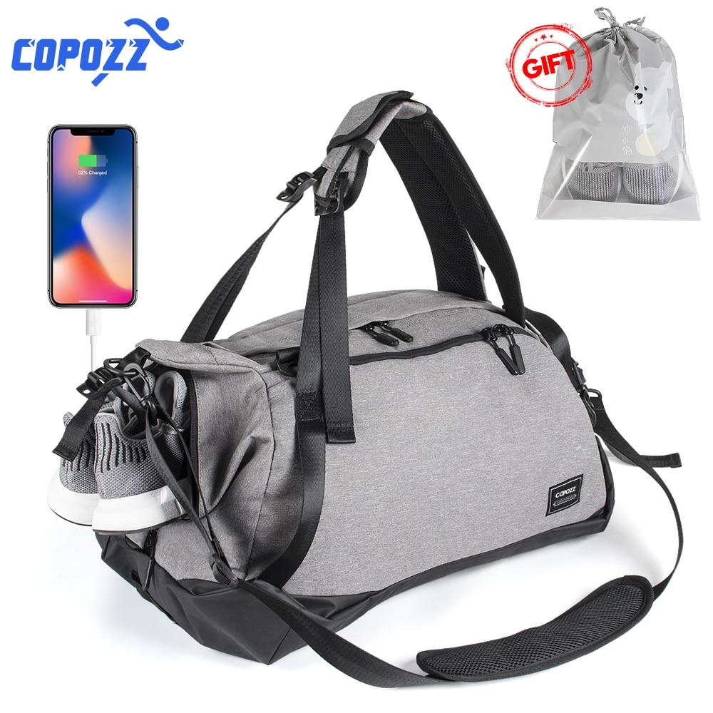 COPOZZ Gym Bag зарядка через usb обуви отсек Для мужчин t 35-55L Ёмкость для Для женщин Фитнес Йога подросток Для мужчин рюкзак Mochila досуг