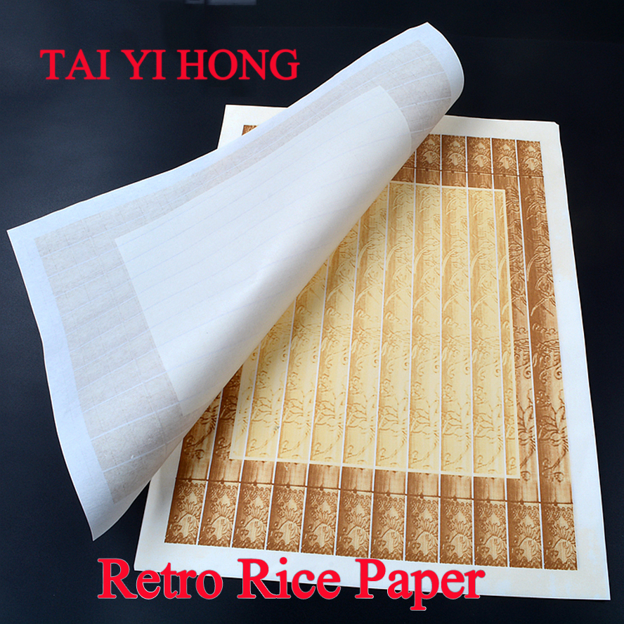 34*45cm Retro Chinese calligraphy Rice Paper Roll Painting Xuan Paper Painting Supply 45cm 10m water color painting paper a2 watercolor paper for acrylic paint painting drawing art set rice paper roll