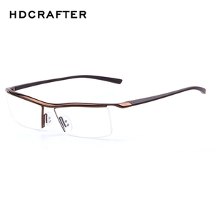 Image 4 - HDCRAFTER 2018 Gözlük Çerçevesiz Kare Miyopi Gözlük Çerçevesi Erkekler Marka Rahat Kayma dayanıklı Gözlük Çerçeveleri Erkekler için