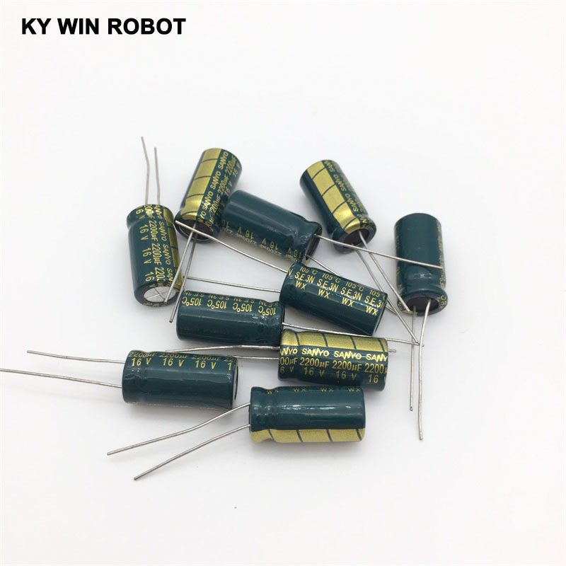 aluminum electrolytic 16V 2200UF 10*20 high frequency low impedance aluminum electrolytic capacitor 2200uf 16v (5)