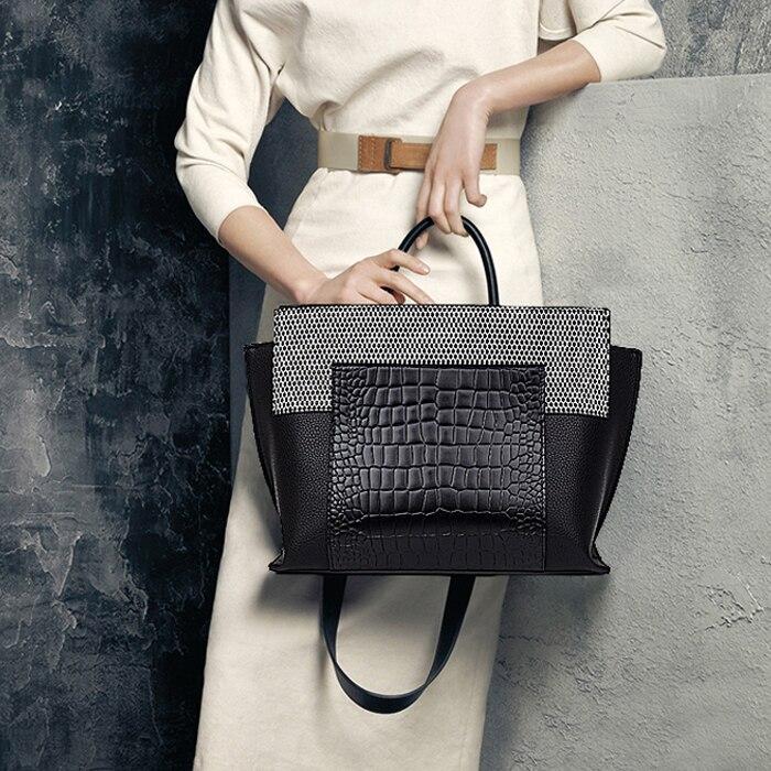 купить luxury handbags women bags designer brand famous handbags leather handbags bags for women 2018 shopper bag female sac a main по цене 3254.11 рублей