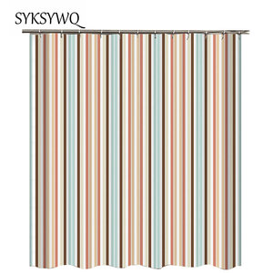Image 3 - Black And White Striped Shower Curtain Black Bathroom Curtain White Curtains For Bathroom Shower Drop Shipping Fabric Polyester