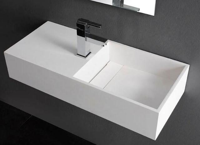 750MM BATHROOM WALL HUNG VANITY COUNTER TOP BASIN   STONE   SOLID SURFACE  VESSEL SINK RS3817