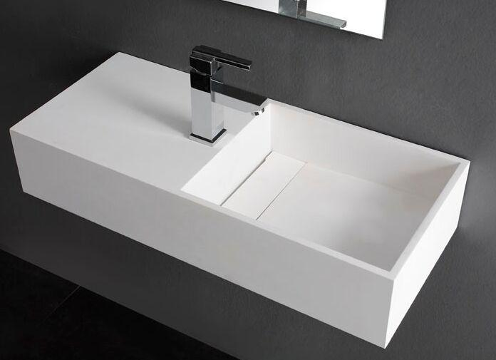750MM BATHROOM WALL HUNG VANITY COUNTER TOP BASIN - STONE - SOLID SURFACE VESSEL SINK RS3817-926
