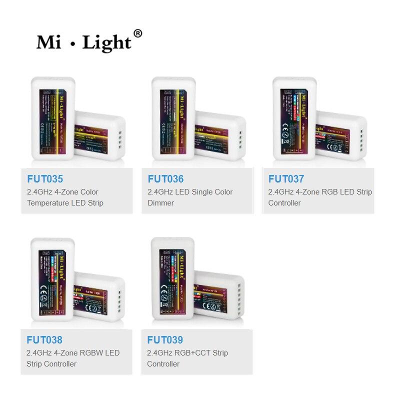 Mi Light 2.4G RF Wireless single color dimmer CCT RGB RGBW RGB+CCT FUT035 FUT036 FUT037 FUT038 FUT039 led strip controller цена