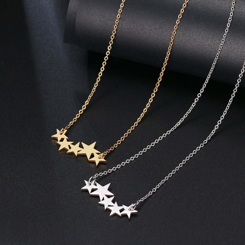 DOTIFI Stainless Steel Necklace For Women Lover's Gold/Rose Gold Color Pentacle Pentagram Pendant Necklace Engagement Jewelry 4