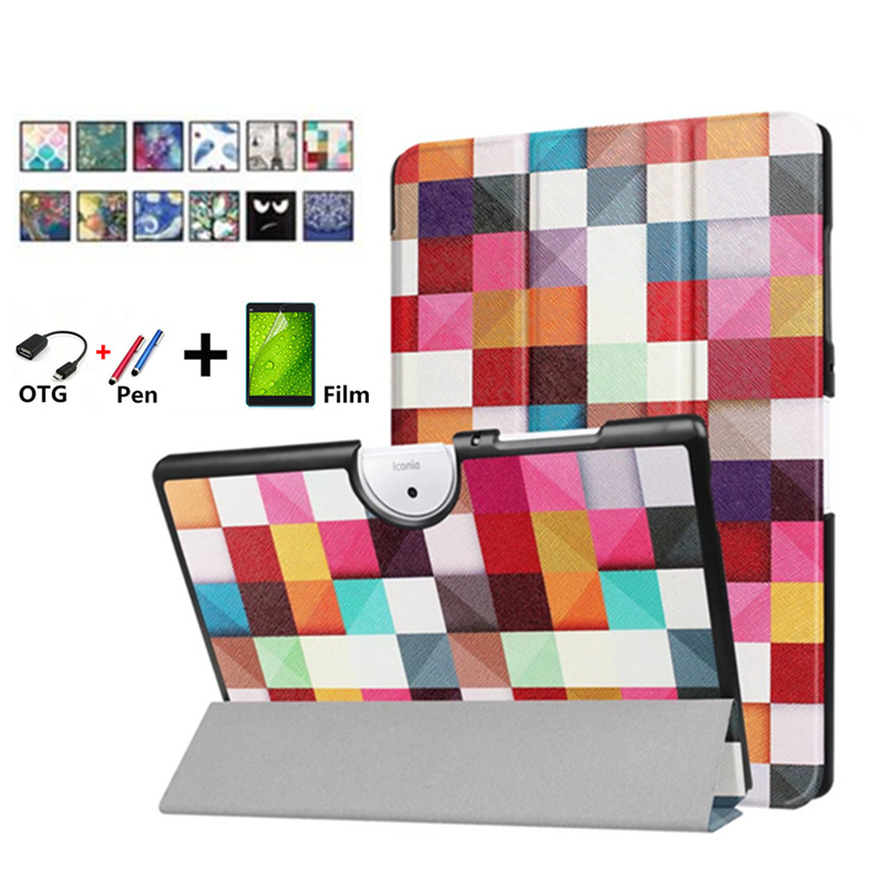 Case for Acer Iconia One 10 B3-A40 B3 40 10.1 Tablet Cover Funda Tablet PU Leather Folding Flip Stand Shell case for Acer B3 A40 slim print case for acer iconia tab 10 a3 a40 one 10 b3 a30 10 1 inch tablet pu leather case folding stand cover screen film pen