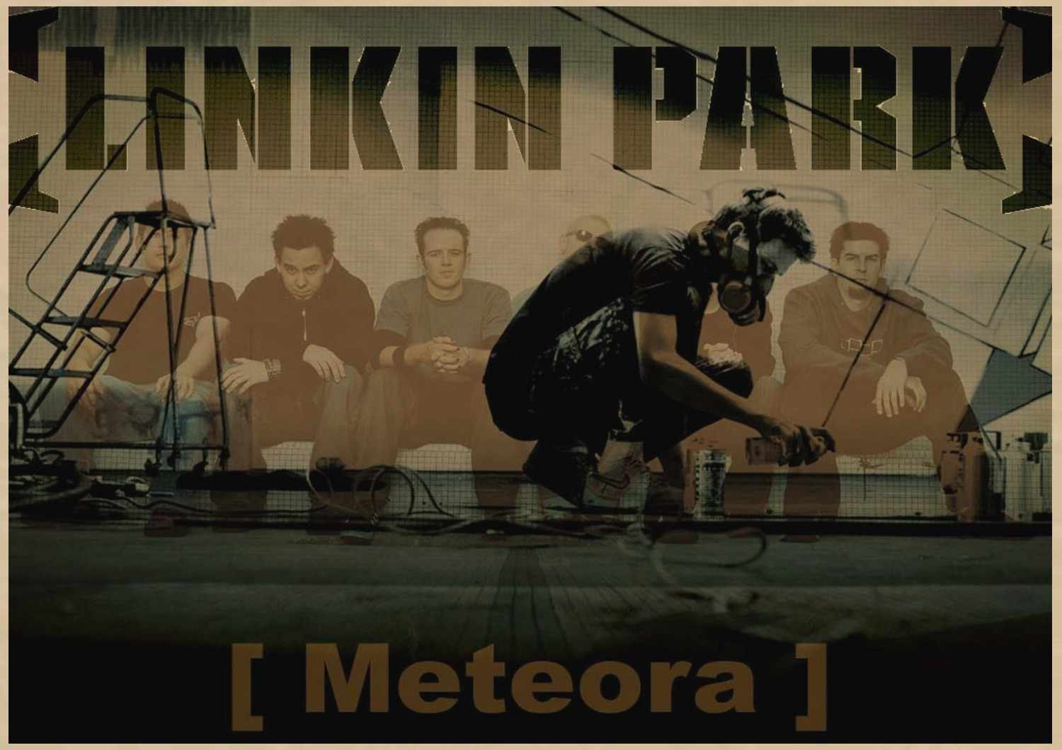 Nostalgico Rock Band Linkin Park Chester Charles Bennington kraft Manifesti di carta Musica Europea e Americana Cafe bar poster A3