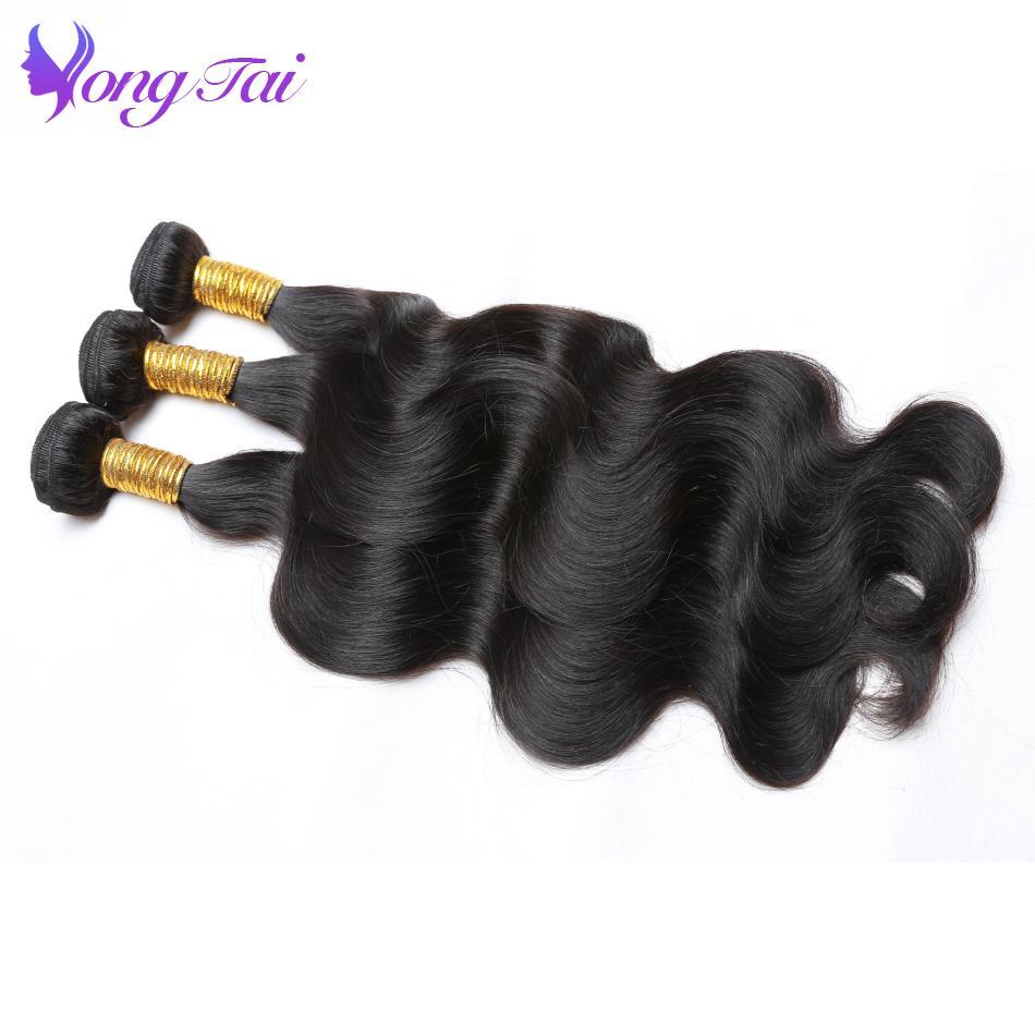 Yuyongtai Peruvian Body Wave Hair Bundles 4Pcs Non Remy Human Hair Bundles 8 30 Inch Hair