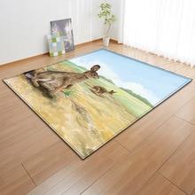 3D Animal Kangaroo Rabbit Squirrel Hedgehog Seal Carpets For The Modern Living Room Childrens Rug Kids Mat Round Floor Carpet