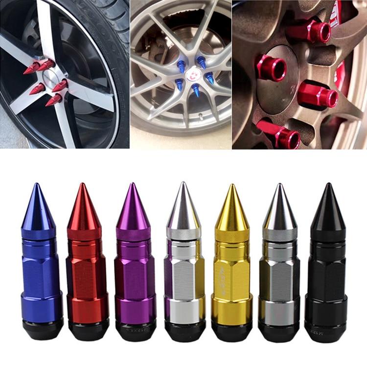 Wheel Nuts Screw Red M12 X P1.5 Car Racing Lug Wheel Nuts Screw for Most of Hondas Aftermarket Wheels