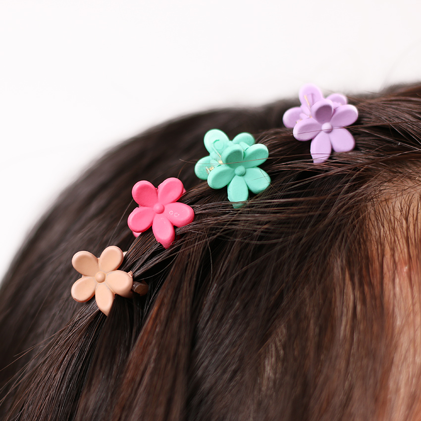 40 pcs Fashion Hair Accessories Hairpins Small Flowers Gripper Korean Children 4 Claws Plastic Hair Clip Clamp 5 pcs lot hot sale korean hair accessories candy colors small flower hair claws gripper cute kids girls plastic hairpins