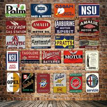 [ DecorMan ] Motor oil Tire Metal Plaque Custom wholesale tin signs Mural Paintings Bar PUB Decor HY-1716