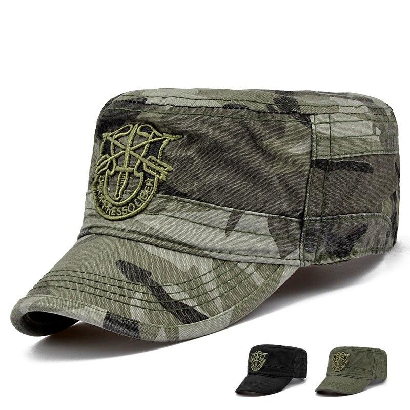 Gorra táctica militar del ejército de EE. UU. gorra plana de camuflaje gorra  Casual 4444d72d7ca