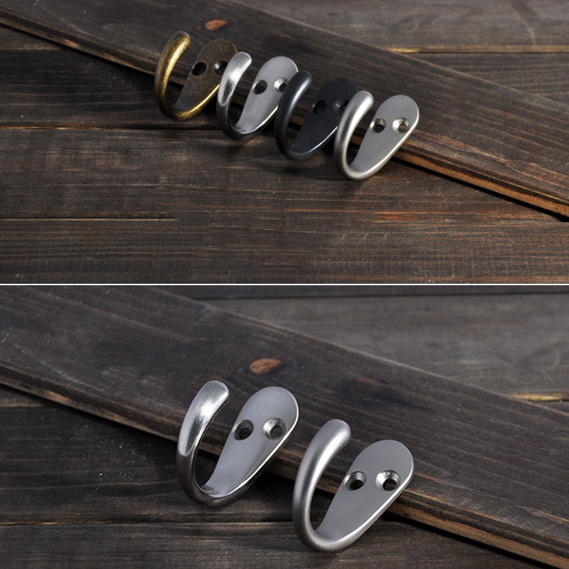 Wardrobe Retro Style Wall Mounted Clothes Coat Hat Hanger Hook Bronze Hand polished in Hooks Rails from Home Garden
