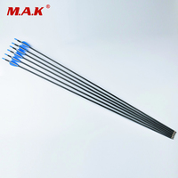100 Pure Carbon Arrows 4 2mm Inner Diameter For Recurve Bow 6pcs Pack 81cm Length Hunting