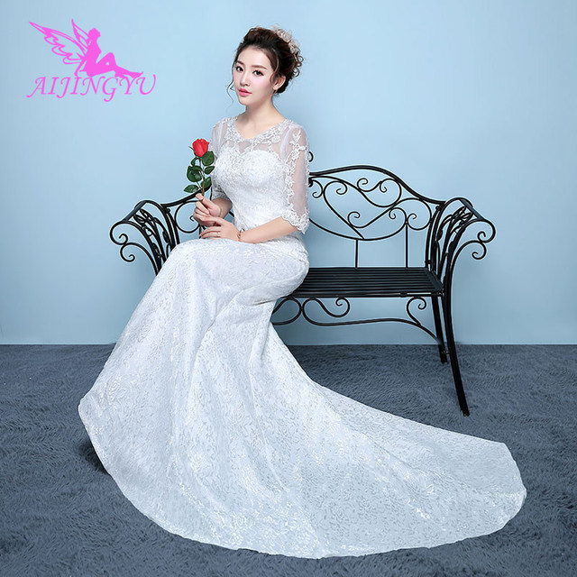 3ca9c969f78b0 AIJINGYU 2018 plus size free shipping new hot selling cheap ball gown lace  up back formal bride dresses wedding dress WK827