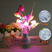 Тюльпан с цветком грибом ночник в форме Smart Light control индукционный светодиодный светильник домашний декор атмосферная ваза розетка ночник