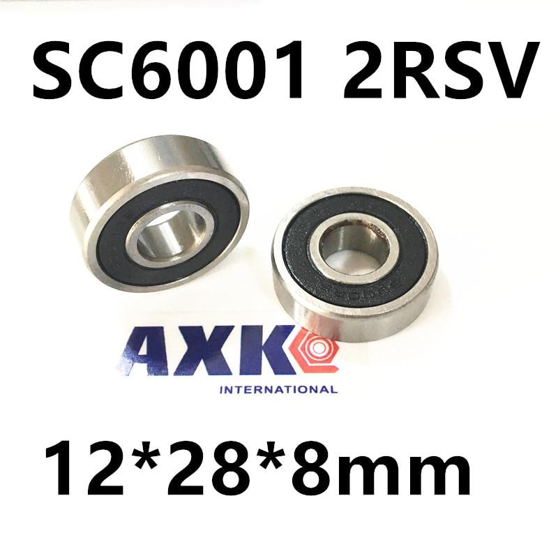Free Shipping wheel hub novatec bearing sc6001 2rsv 12*28*8mm 6001 stainless steel Si3N4 hybrid ceramic bearing wheel hub bearing 15267 2rs 15 26 7mm s15267 2rs ce 15267 stainless steel si3n4 hybrid ceramic bearing