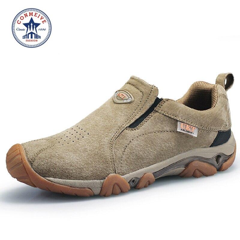 Sapatos de Caminhada Sapatilhas Limitada Chaussure Trekking Campismo Marca Esporte Couro Novo Respirável Tênis Médio b m