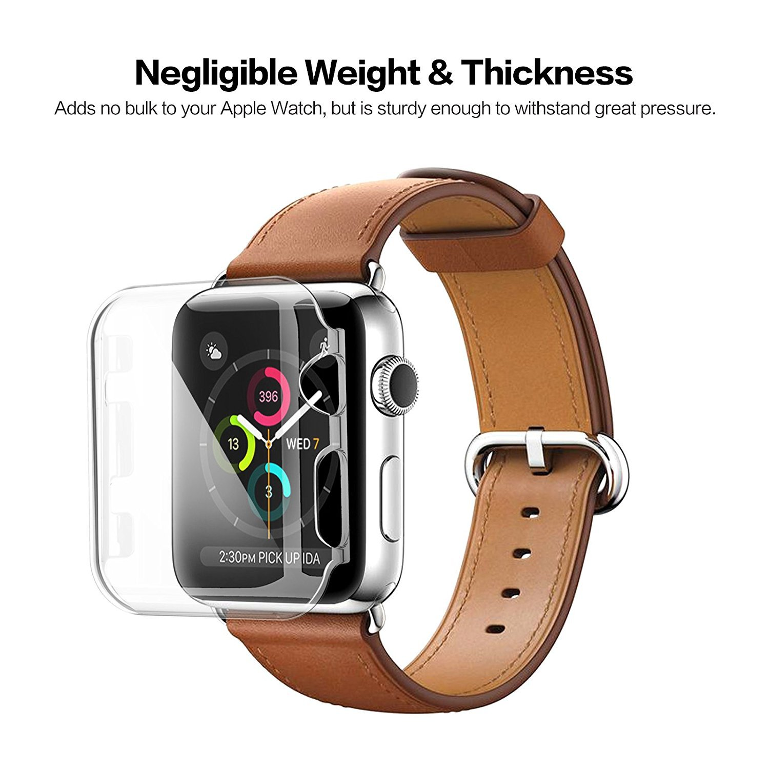 Transparent Screen Protection Case for Apple Watch Series