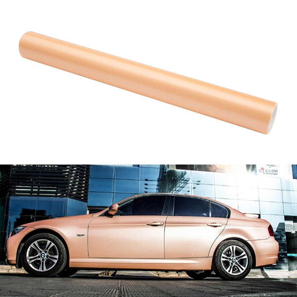Film de carrosserie de voiture 1.52*5 M couleur brillante bricolage Films de carrosserie de voiture vinyle autocollant pour voiture décalque Film de dégagement d'air