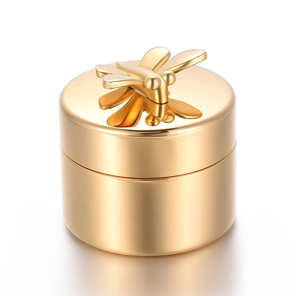 Gold Butterfly Cremation Urn Stainless Steel Human Memorial Ashes Mini Urn Funeral Keepsake Pet Urn klh9359 dog tag stype my fur angel pet urn necklace for ashes memorial keepsake cremation pendant funnel gift