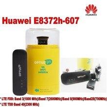 Разблокирована оригинальный новый 150 Мбит/с Huawei e8372h-607 4 г модем маршрутизатор Wi-Fi плюс 2 шт. антенны