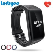 LERBYEE Hot Sale K1 Activity Tracker Men Sport Fashion Smart Watch HR Call Reminder Smart Bracelet Real-time Band for Running