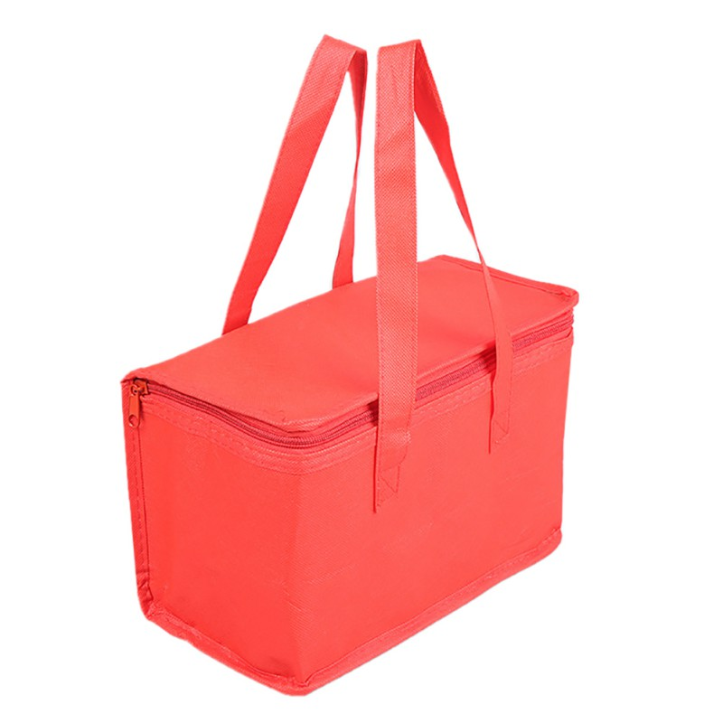 Hand-held Non-woven Lunch Bag Thermal Insulated Cooler Bag Extra Large Picnic Lunch Bag Trips BBQ Food Pack Accessories Supplies