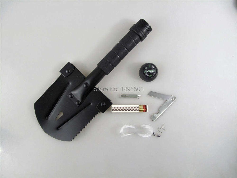 Compact Survival Camping Shovel W/ Many Features
