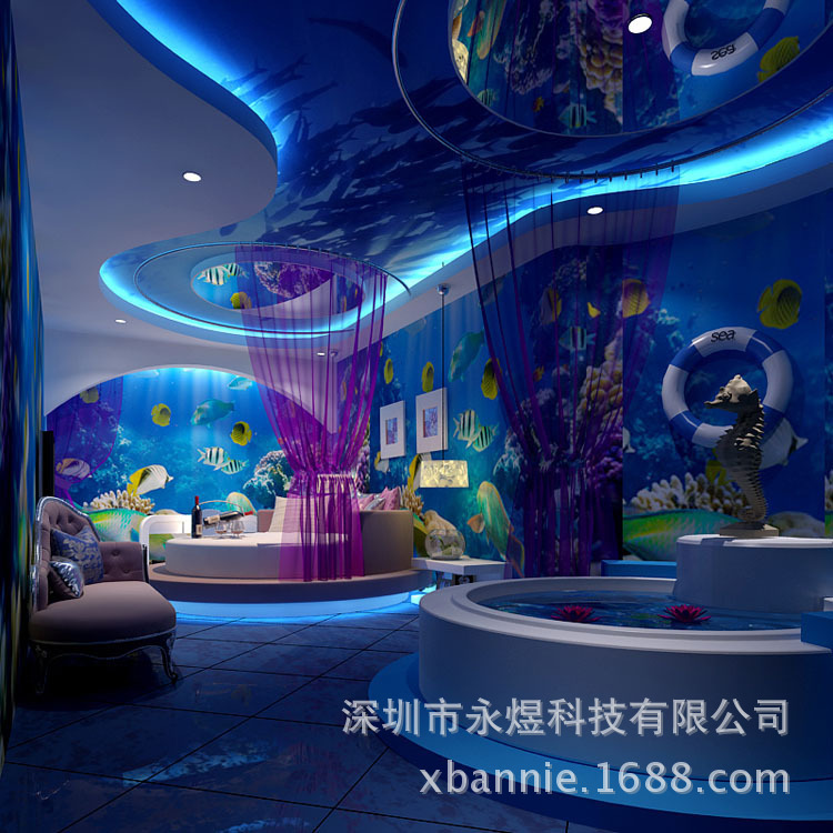 Underwater World 3D Personalized Custom Theme Restaurant KTV Rooms Bedroom  Hotel Large Mural Wallpaper Wallpaper Seamless In Painting U0026 Calligraphy  From ...