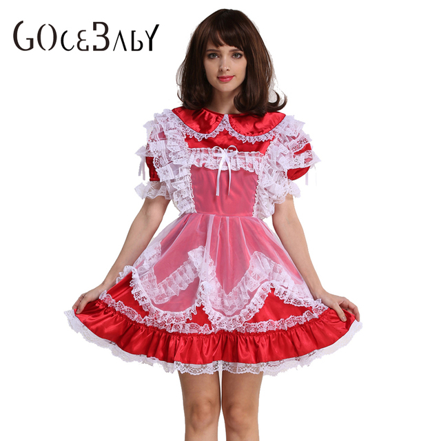 Aliexpress.com : Buy Sissy Girl Red Satin Lockable Dress