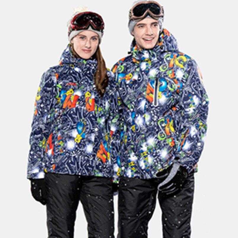 Haute Expérience Hiver ski veste femmes snowboard veste hommes montagne ski veste de neige imperméable veste de ski femme homme