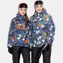 2015 Winter Brand Yellow Snowboard Jacket Men Waterproof Ski Snow Suit Set Hooded Coats Chaquetas esqui Hombre Descente