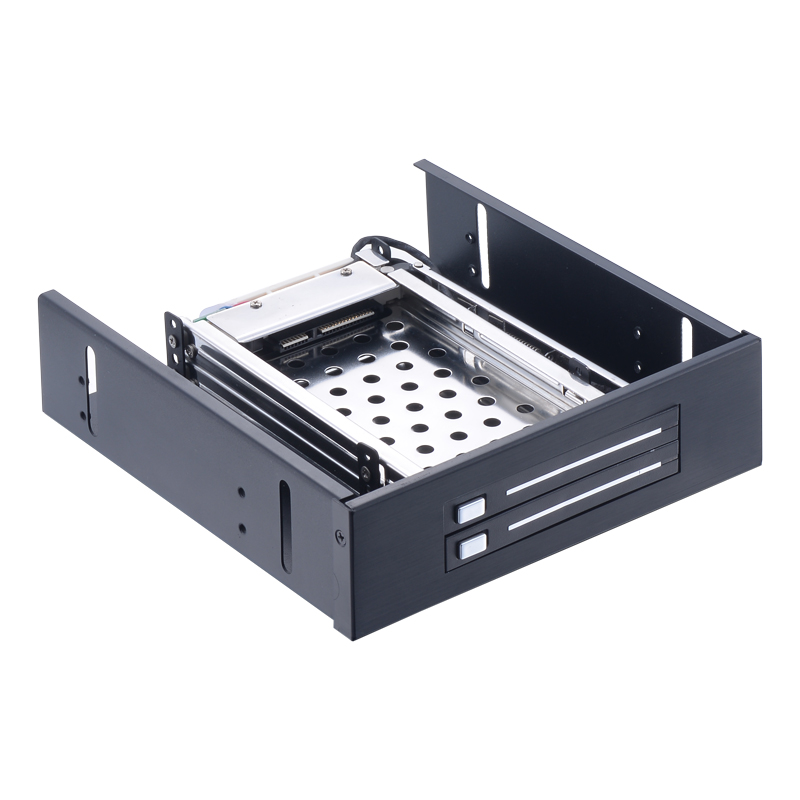 Uneatop ST5522 Dual bay 2.5in hard drive case optical drive hdd docking SATA mobile rack for hot swap 6Gbps стоимость