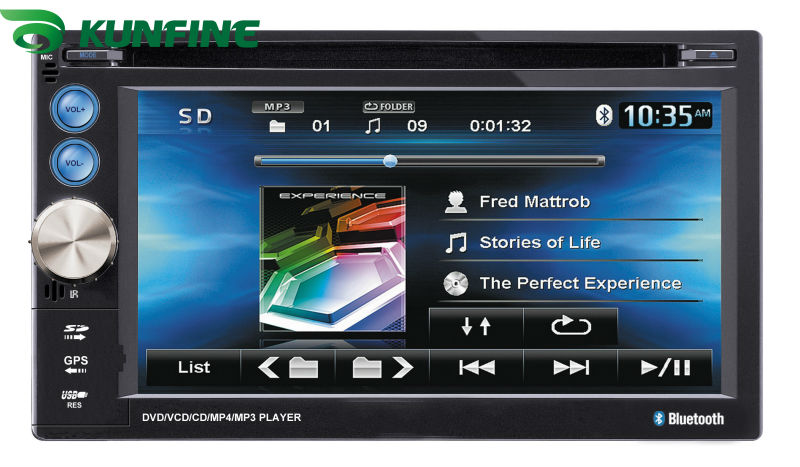 ФОТО Wholesale price! 6.2inch touch screen 2 Din Car DVD player audio Radio stereo,FM,USB/SD,Bluetooth/TV without GPS KF-509A
