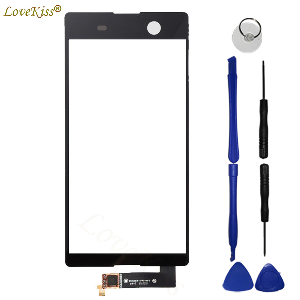 M5 Dual Touchscreen Front Panel For Sony Xperia M5 E5603 E5606 E5653 Touch Screen Sensor LCD Display Digitizer Glass Cover Tools