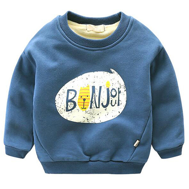 Casual Children Fashion Hoodies Boys Keep Warm Winter Cartoon Sweatshirts Girls Cute Sweater Kids coat jacket clothing velvet