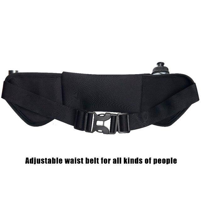 Outdoor Women&Men Hydration Belt For Trail Running Hip Waist Pack Gym Fitness Jogging Waist Bag Water Bottle Sport Accessories 2