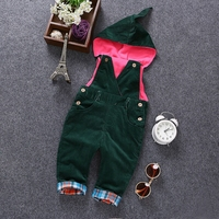 6m- 3Years Baby Winter Corduroy Boys Girls Overalls Toddler Hooded Rompers Infant Long Pants Kids jumpsuit Babe Outfits Clothes